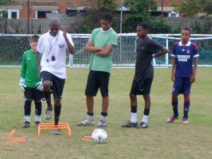 Football skills training